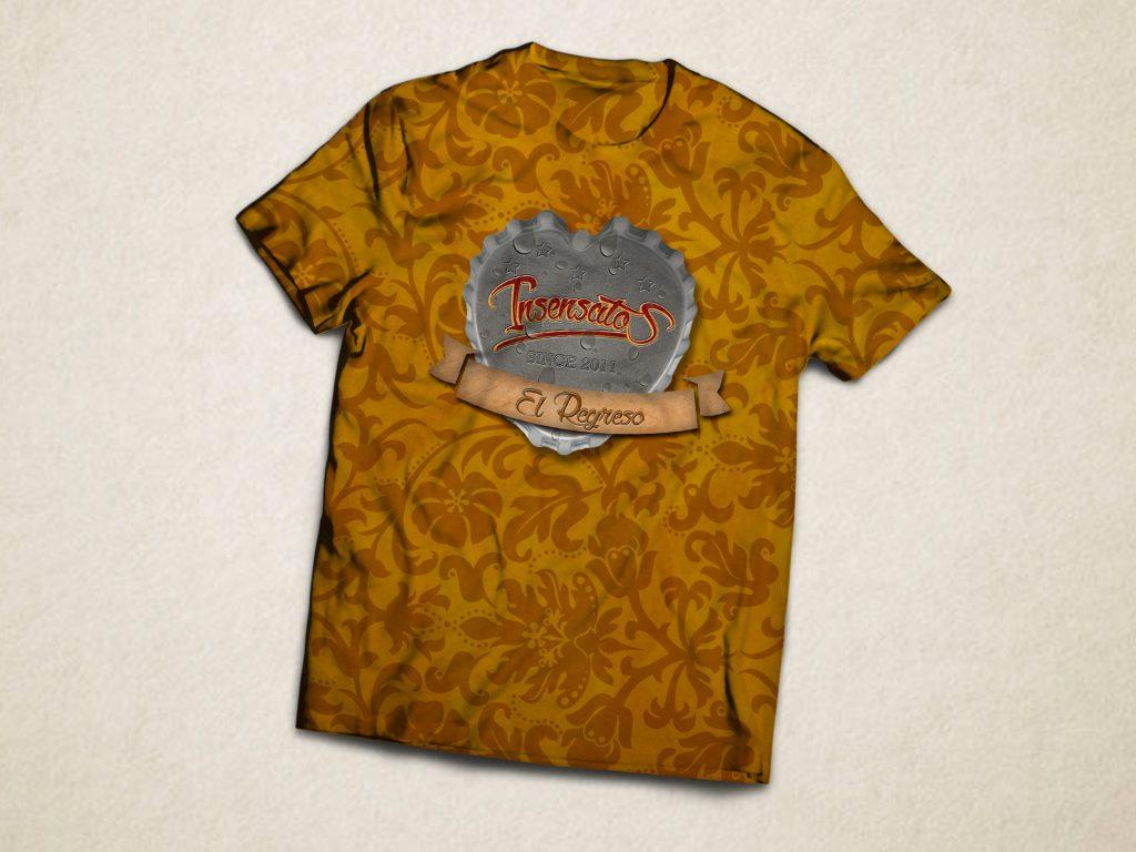 camisetas grupo de rock