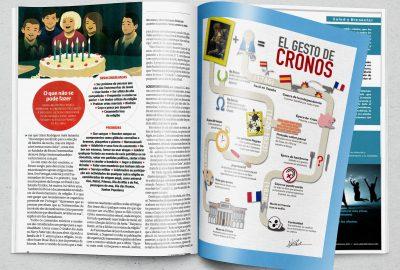 infografía de goya en revista