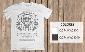 diseño camiseta estudio tattoo